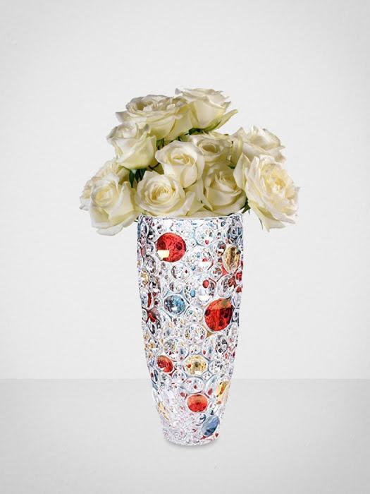 Bình hoa pha lê chì phối màu Lisboa Bohemia