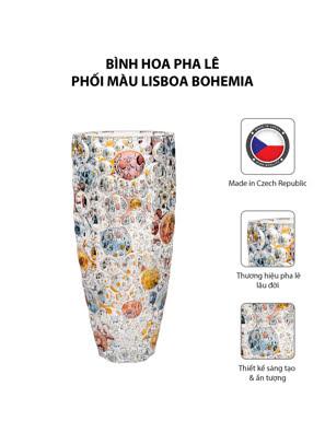 Bình hoa pha lê phối màu Lisboa Bohemia