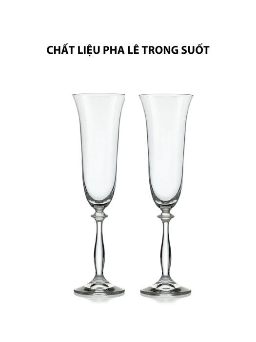 Bộ 2 ly champagne Angela Bohemia 190ml