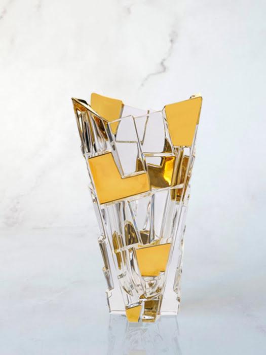 Bình hoa pha lê chì phủ vàng Sydney Bohemia