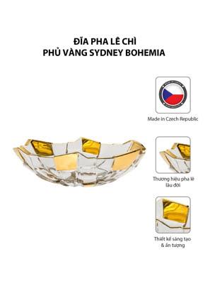 Khay pha lê chì phủ vàng Sydney Bohemia