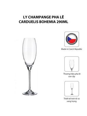 Bộ 6 ly champange pha lê Carduelis Bohemia 290ml