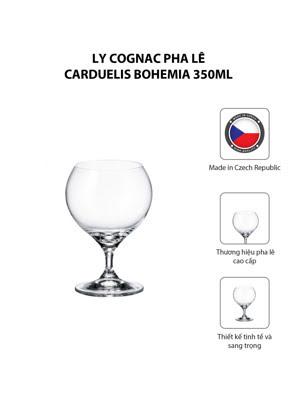 Bộ 6 ly cognac pha lê Carduelis Bohemia 350ml