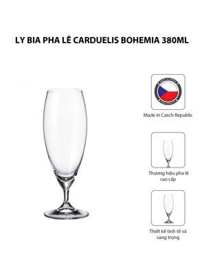 Bộ 6 ly bia pha lê Carduelis Bohemia 380ml