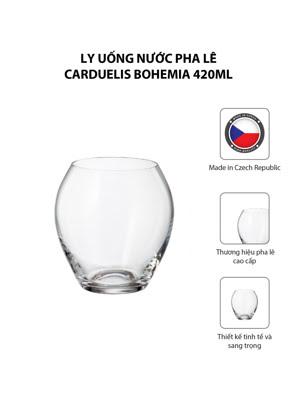 Bộ 6 ly uống nước pha lê Carduelis Bohemia 420ml