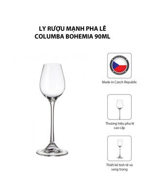 Bộ 6 ly rượu mạnh pha lê Columba Bohemia 90ml