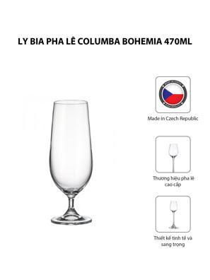 Bộ 6 ly bia pha lê Columba Bohemia 470ml
