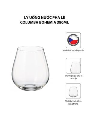 Bộ 6 ly uống nước pha lê Columba Bohemia 380ml