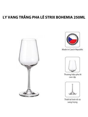 Bộ 6 ly vang trắng pha lê Strix Bohemia 250ml