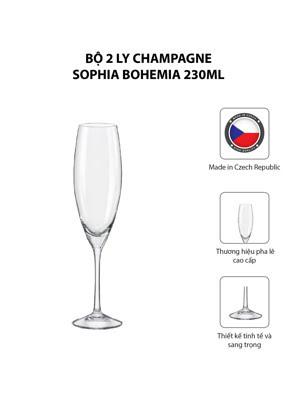 Bộ 2 ly champagne Sophia Bohemia 230ml