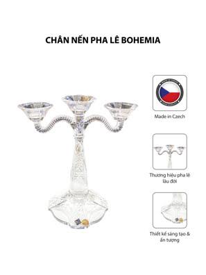 Chân nến pha lê Bohemia