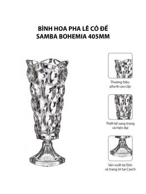 Bình hoa pha lê có đế Samba Bohemia 405mm