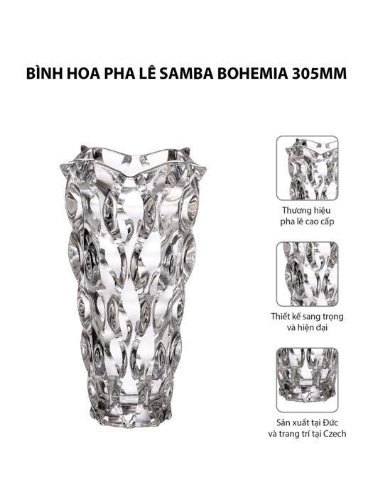 Bình hoa pha lê Samba Bohemia 305mm   Moriitalia