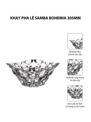 Khay pha lê Samba Bohemia 305mm