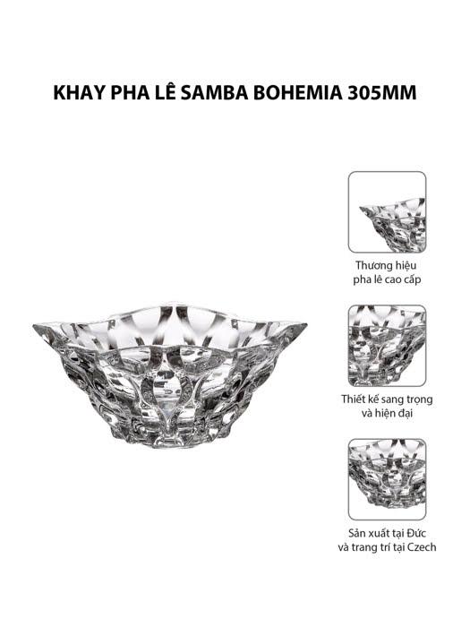 Khay pha lê Samba Bohemia 305mm | Moriitalia