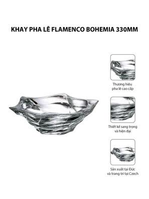 Khay pha lê Flamenco Bohemia 330mm