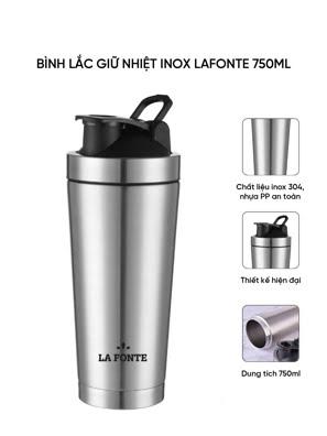 Bình lắc giữ nhiệt shaker inox 750ml La Fonte - 001755