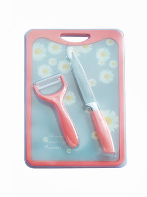 Bộ dao thớt hoa 3 món - 007115P