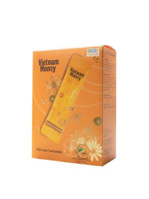 Hộp Stick Mật ong nghệ Curcumin (15g x12 gói) - VIETNAMHONEY
