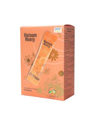Hộp stick mật ong tinh nghệ sữa chúa Tacumin(15g x12 gói) - VIETNAMHONEY