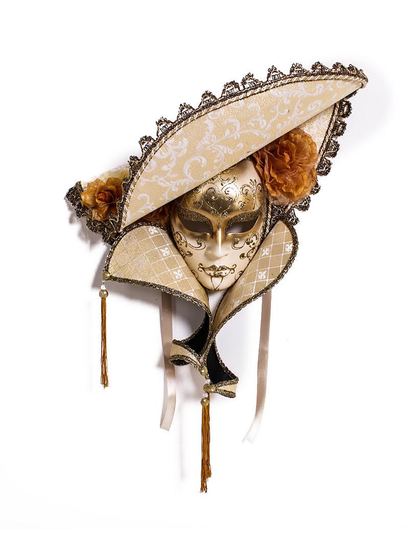 Mặt nạ hóa trang nguyên mặt Hat Luxury đính đá Swarovsky - MATNA011 - Moriitalia