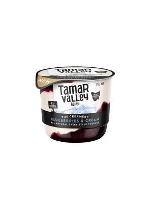 Sữa chua kiểu Hy Lạp vị kem việt quất Tamar Valley 170g