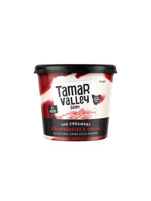 Sữa chua kiểu Hy Lạp vị kem dâu Tamar Valley 700g